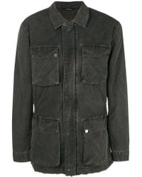 Z Zegna - Washed Effect Military Jacket - Lyst