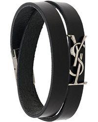 Saint Laurent - Wrap-around Monogram Logo Bracelet - Lyst
