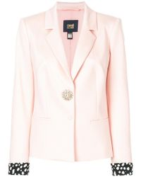 Class Roberto Cavalli - Rolled-up Sleeve Blazer - Lyst