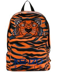 261fe615 KENZO Tiger Backpack in Pink for Men - Lyst