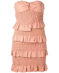 DROMe - Ruched And Ruffled Dress - Lyst