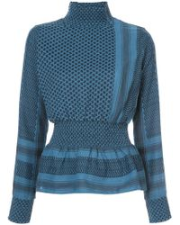 Cecilie Copenhagen - Patterned High Neck Top - Lyst