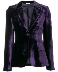 P.A.R.O.S.H. - Velvet Fitted Jacket - Lyst