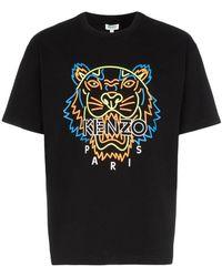 f496800bb KENZO - Tiger Print T-shirt - Lyst