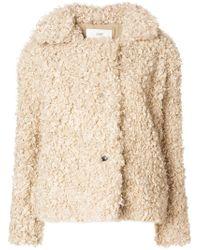Closed - Artificial Fur Jacket - Lyst