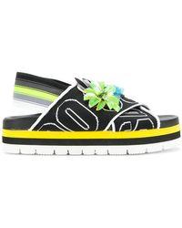 MSGM - Logo Embellished Sandals - Lyst