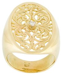 Wouters & Hendrix | Filigree Diamond Signet Ring | Lyst