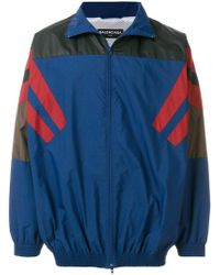 Balenciaga - Bomberjacke in Colour-Block-Optik - Lyst