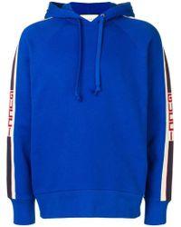 Gucci - Kapuzenpullover mit Logo-Streifen - Lyst
