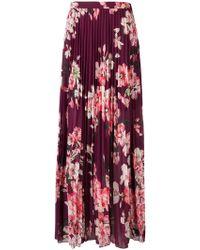 Liu Jo - Floral Pleated Maxi Skirt - Lyst
