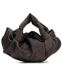 4b3ba2c996ba5 The Row Ladies White And Gold Timeless Ascot Velvet Shoulder Bag in ...