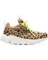 Diemme - Brown Monte Grappa Leopard Print Ponyskin Sneakers - Lyst