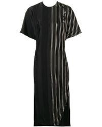 Esteban Cortazar - Striped Midi Dress - Lyst