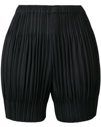 Pleats Please Issey Miyake - Elasticated Waist Shorts - Lyst