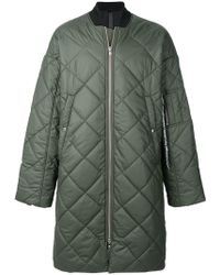 Odeur - Long Quilted Coat - Lyst