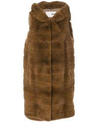 Manzoni 24 - Hooded Sleeveless Jacket - Lyst