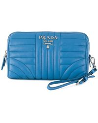 Prada | Quilted Zip Make-up Bag | Lyst