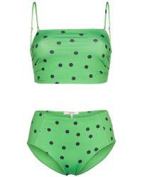 Ganni - Clover Polka Dot Bikini - Lyst