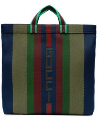Gucci - Multicoloured Stripe Logo Tote - Lyst