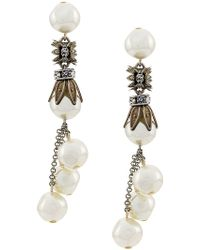 Alberta Ferretti - Pearl Drop Earrings - Lyst
