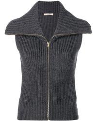 ODEEH - Knitted Waistcoat - Lyst