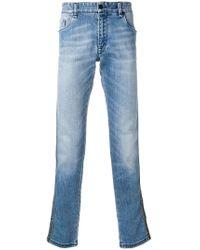 9e34670f13b Fendi - Jean slim à bandes contrastantes - Lyst