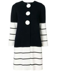 Charlott - Striped Knit Coat - Lyst