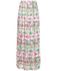 Ultrachic - Straw Print Pleated Maxi Skirt - Lyst