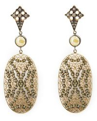 Loree Rodkin - Lace Maltese Cross Drop Diamond Earrings - Lyst