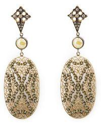 Loree Rodkin - Lace Maltese Cross Drop Diamond Earrings - Lyst