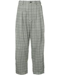 Hed Mayner - Checked Cropped Trousers - Lyst