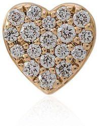 Loquet London - Diamond Heart Stud - Lyst