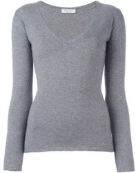 Fashion Clinic - V-neck Knitted Top - Lyst