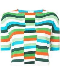 Akris Punto - Striped Short-sleeve Top - Lyst
