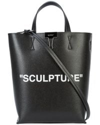 Off-White c/o Virgil Abloh - Leather Tote Bag - Lyst