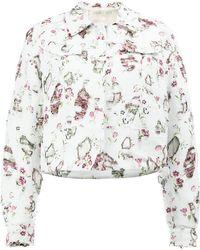 Giambattista Valli   Distressed Floral Jacket   Lyst
