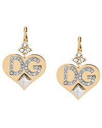 Sacred Heart earrings - Metallic Dolce & Gabbana Free Shipping Cool Shopping Free Shipping Huge Surprise vpDf32fwq