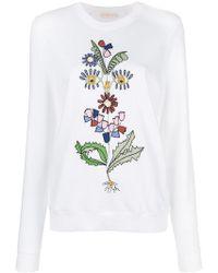 Tory Burch - Floral Sweatshirt - Lyst