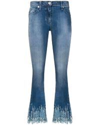 Blumarine - Sequin Cropped Flared Jeans - Lyst
