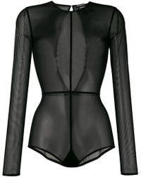 Ann Demeulemeester - Longsleeved Sheer Bodysuit - Lyst