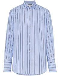 Gucci - Gg Oversized Stripe Cotton Shirt - Lyst