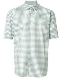 Cerruti 1881 - Short Sleeved Check Shirt - Lyst