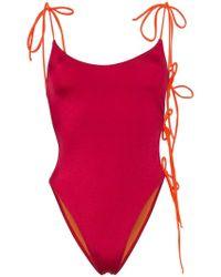 ACK - Tintarella Flirt Tie Side Swimsuit - Lyst