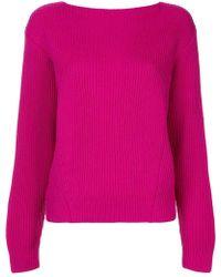 DES PRÉS - Long-sleeve Ribbed Sweater - Lyst