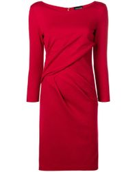 Emporio Armani - Ruched Fitted Midi Dress - Lyst