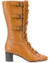 Chloé - Lace-up Buckle Boots - Lyst