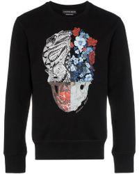 Alexander McQueen - Sweatshirt mit Totenkopf - Lyst