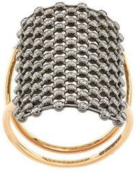 Diane Kordas - Crystal Embellished Net Pattern Ring - Lyst