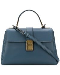 9003a56c8f Bottega Veneta - Denim Calf Small Piazza Bag - Lyst