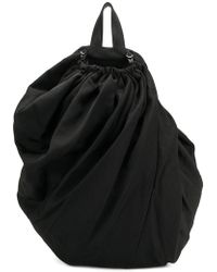 134518e62c Yohji Yamamoto - Drawstring Draped Backpack - Lyst